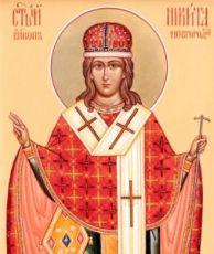 Икона Никита Новгородский (рукописная)