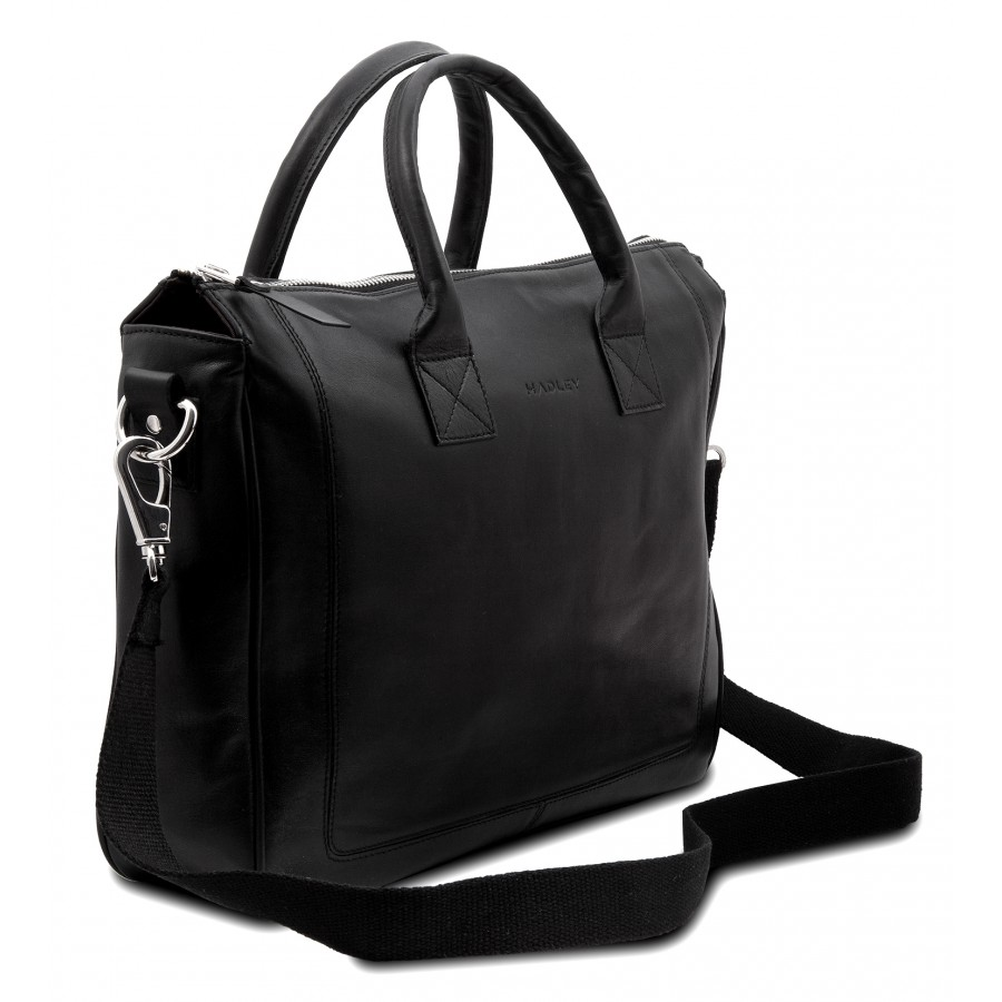 HADLEY HENRY BLACK кожаная деловая сумка портфель