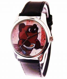 Прикольные наручные часы Винни-пух
