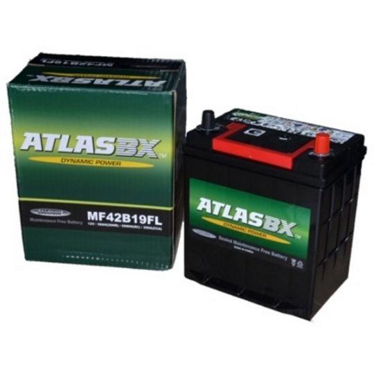 Автомобильный аккумулятор АКБ ATLAS (Атлас) MF42B19FL 38Ач о.п. нижнее крепление