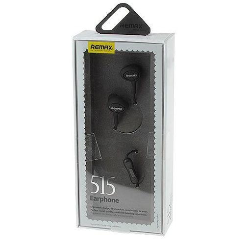 Наушники вакуумные - гарнитура Remax RM-515 (черные)