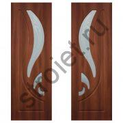 Двери межкомнатные Лилия по  итальянский орех пвх
