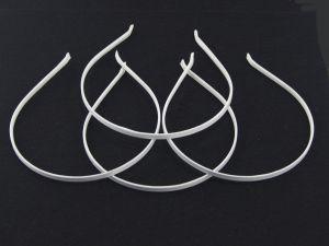 `Ободок, металл обтянутый тканью, ширина 5 мм, цвет белый