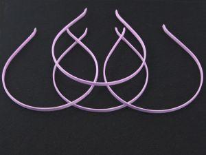 `Ободок, металл обтянутый тканью, ширина 5 мм, цвет сиреневый