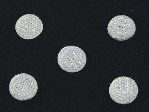 `Кабошон круглый, акрил, блестящий, 14 мм, цвет №01 прозрачный