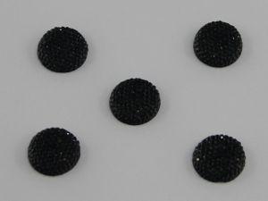 `Кабошон круглый, акрил, блестящий, 18 мм, цвет №02 черный