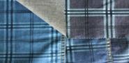 джинсовая ткань с  рисунком клетка