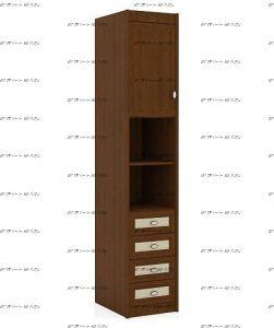 Шкаф-пенал Итальянские мотивы (51.201.01) МДФ, 45х58х228