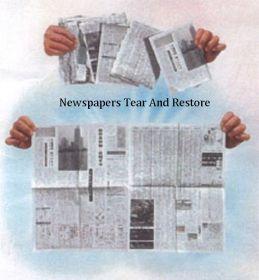 Восстановление порванной газеты (+ ОБУЧЕНИЕ)