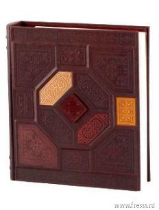 Подарочный фотоальбом Византия, натуральная кожа