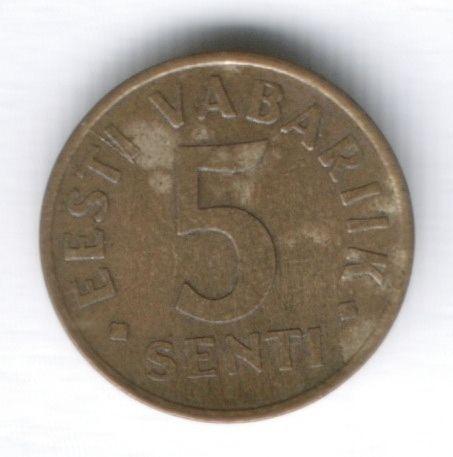 5 сентов 1991 г. Эстония