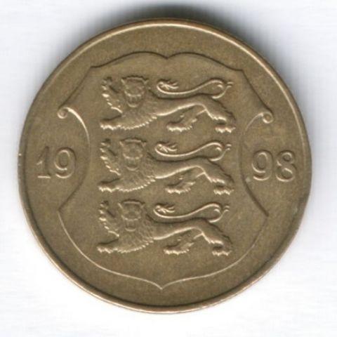 1 крона 1998 г. Эстония
