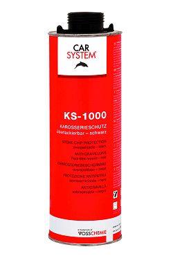 """Carsystem """"KS-1000"""". Антигравийное покрытие окрашиваемое черное, 1л."""