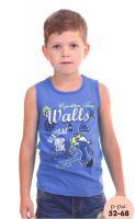 Майка для мальчика синяя Свитанак