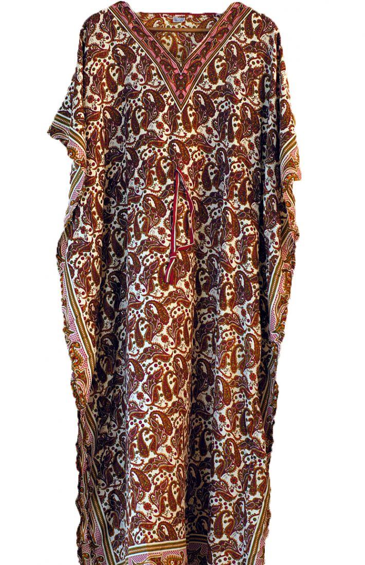 Платье для дома и отдыха с турецкими огурцами (отправка из Индии)
