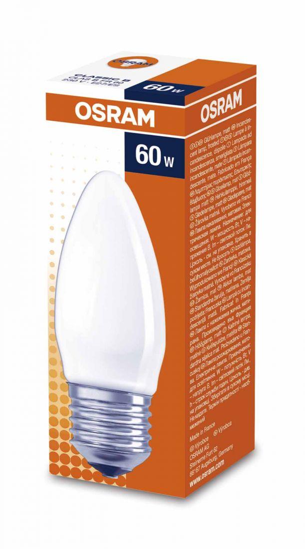 Лампа OSRAM B 60W E27FR