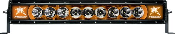 """Однорядная светодиодная балка с янтарной подсветкой Rigid Industries Radiance 20"""" (9 диодов)"""
