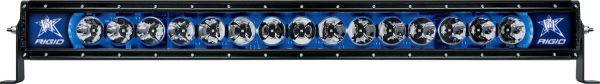 """Однорядная светодиодная балка с синей подсветкой Rigid Industries Radiance 30"""" (15 диодов)"""