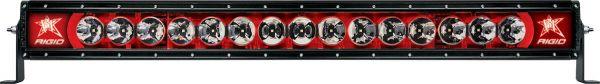 """Однорядная светодиодная балка с красной подсветкой Rigid Industries Radiance 30"""" (15 диодов)"""