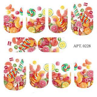 Слайдер-дизайн для ногтей № 0228