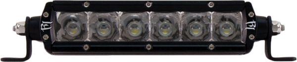 """Однорядная светодиодная балка дальнего света (янтарный цвет) Rigid Industries 6"""" SR-Серия (6 диодов)"""