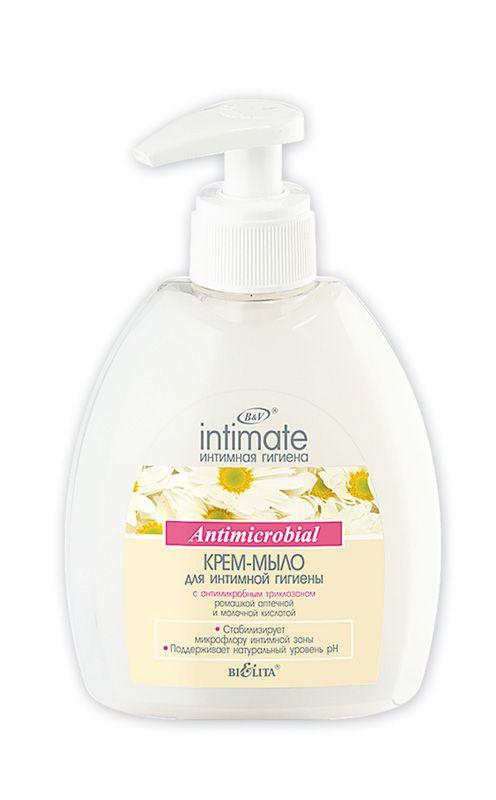 INTIMATE Крем-мыло для интимной гигиены Antimicrobial 380 мл