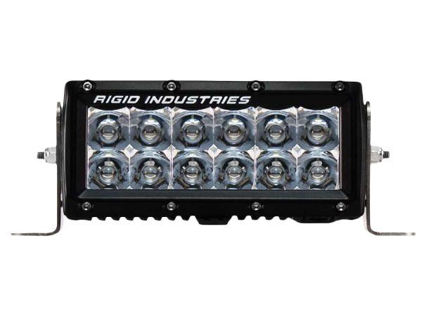 """Двухрядная светодиодная балка Rigid Industries 6"""" E-Серия (12 светодиодов) Дальний свет - Янтарный цвет"""