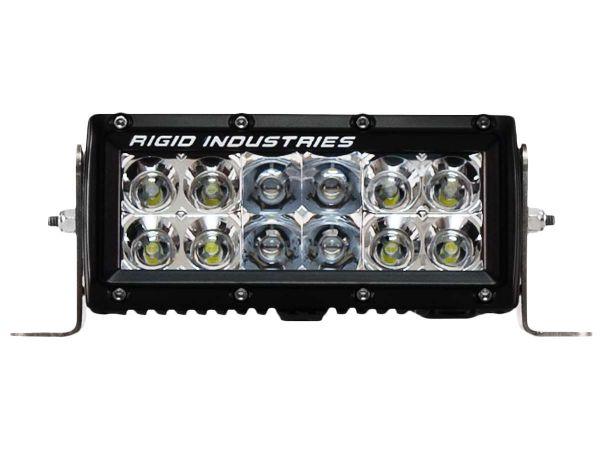 """Двухрядная светодиодная балка Rigid Industries 6"""" E-Серия (12 светодиодов) Комбинированный свет- Янтарный цвет (Ближний/Дальний)"""