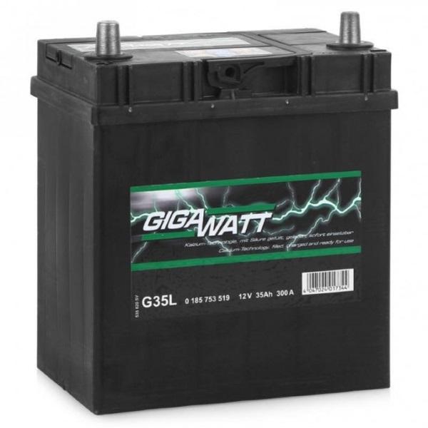 Автомобильный аккумулятор АКБ GigaWatt (Гигават) G35L 535 119 030 35Ач п.п.