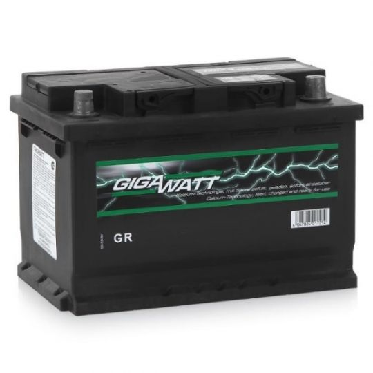 Автомобильный аккумулятор АКБ GigaWatt (Гигават) G74R 574 104 068 74Ач о.п.