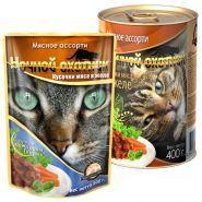 Ночной охотник для кошек Кусочки в желе Мясное ассорти (100 г)