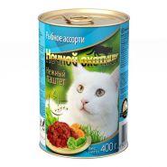 Ночной охотник для кошек Паштет Рыбное ассорти (400 г)