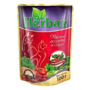 Herbax Мясное ассорти в соусе с листьями брусники (100 г)