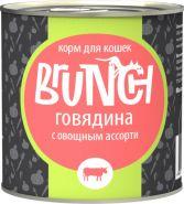 Brunch для кошек Говядина с овощным ассорти (240 г)