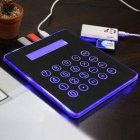 Неоновый коврик для мыши c USB-портами и калькулятором