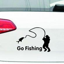 "Наклейка на авто ""на рыбалку"""