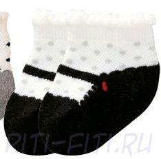 Носочки Балетки черный низ (12 см)