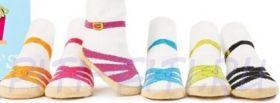 Носочки сандалии  с тормозками (голубой ремешок) 11 см