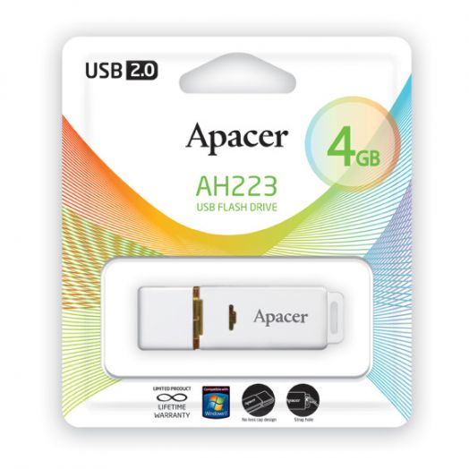 USB накопитель Apacer 4GB AH322 black