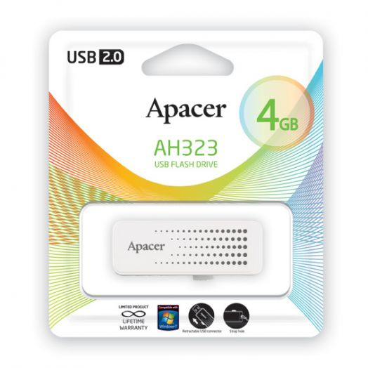 USB накопитель Apacer 4GB AH323 white