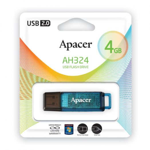 USB накопитель Apacer 4GB AH324 blue