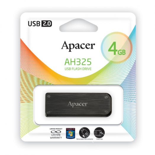 USB накопитель Apacer 4GB AH325 black