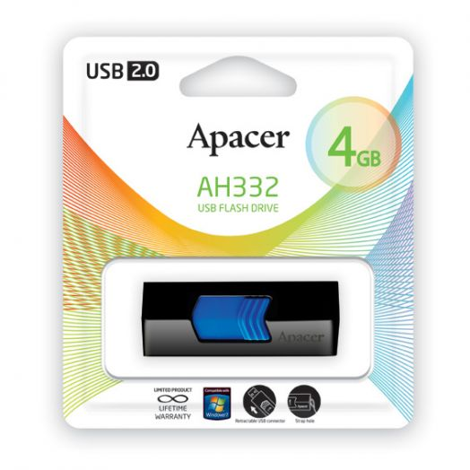 USB накопитель Apacer 4GB AH332 blue