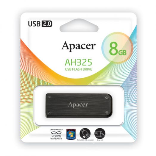 USB накопитель Apacer 8GB AH325 black