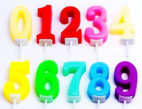 Свечи-цифры