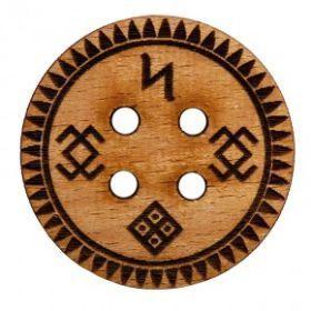 Руническая Волшебная пуговица «Сила»