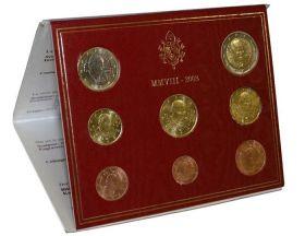 Набор монет евро. Ватикан, 2008 год.