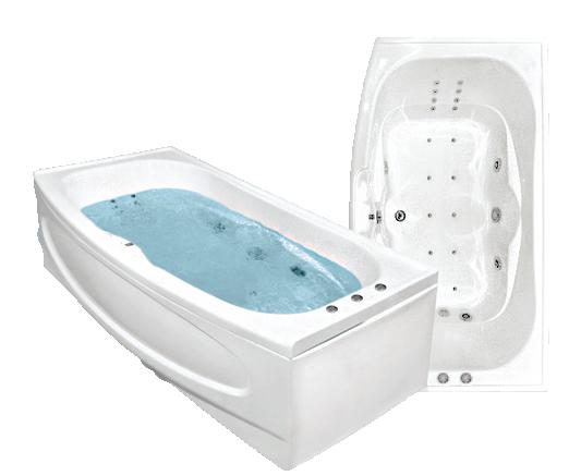 Акриловая ванна Bach Джени 190*110 см, без гидромассажа, Престиж