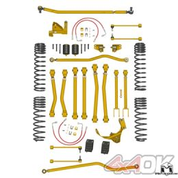 """JK Wrangler Game-Changer Suspension 4.5"""", Hi-Steer, No Shock Edition"""