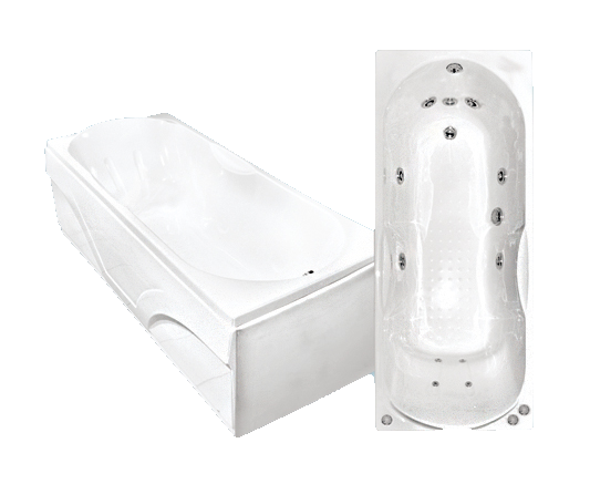 Гидромассажная акриловая ванна Bach Лаура 1500*700, G